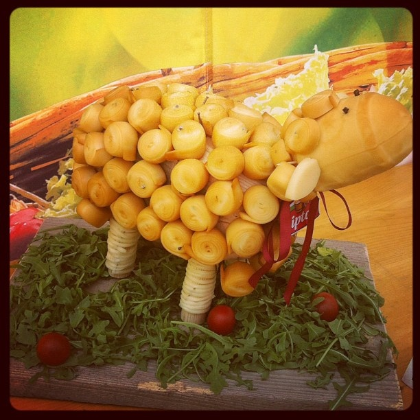 Cute sheep made out of cheese...