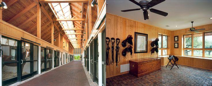 Arquitetura equestre: Haras, hipicas e fazendas Pavilhão de cocheiras e quarto de sela http://dianabrooks.com.br/arquitetura-equestre-haras-hipicas-e-fazendas/