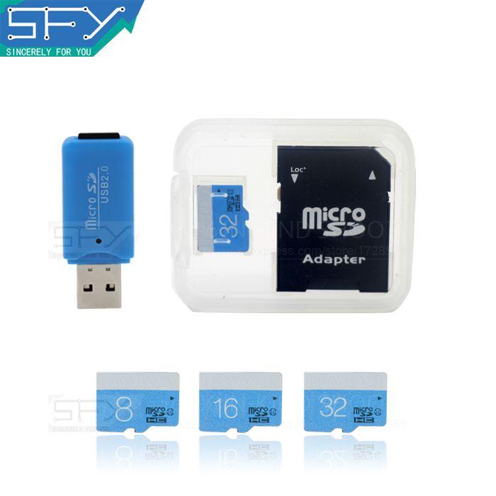 2016 Nueva Moda AÑO FISCAL ESTATAL de Alta Velocidad de la Capacidad Verdadera Amor Azul 8 GB 16 gb 32 gb tarjeta sd micro tf tarjeta de memoria para pc
