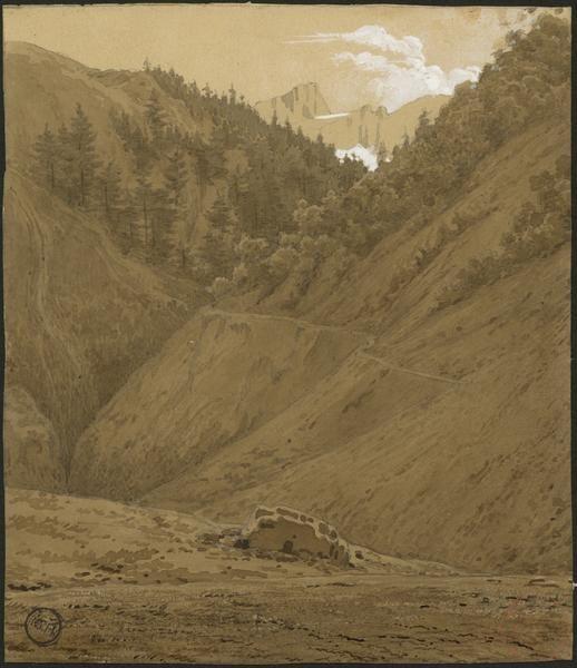 Eugène Viollet-le-Duc, la forêt du val d'Alto, 20 août 1833 Aquarelle  Ministère de la Culture (France), Médiathèque de l'architecture et du patrimoine, dist. RMN