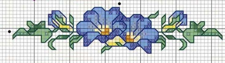 Schema punto croce Bordi-floreali-4