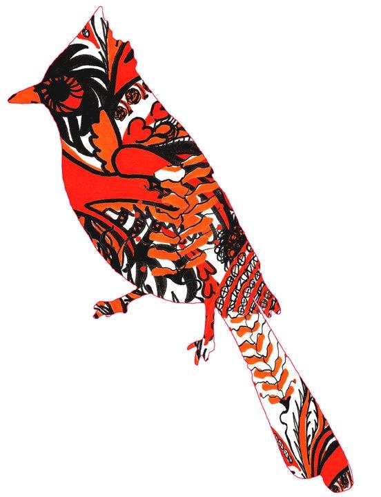 Cardinal silhouette.Bird Paintings, Nature Painting, Prints 8X10, Birds Painting, Pop Art Paintings, Art Birds, Cardinals Silhouettes, Painting Prints, Red Birds