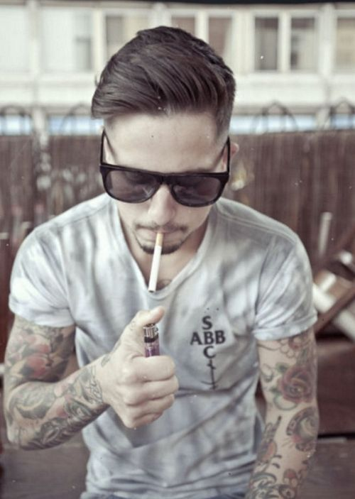 Rayban Tattoos Cigarettes And Rock N Roll Inked Men