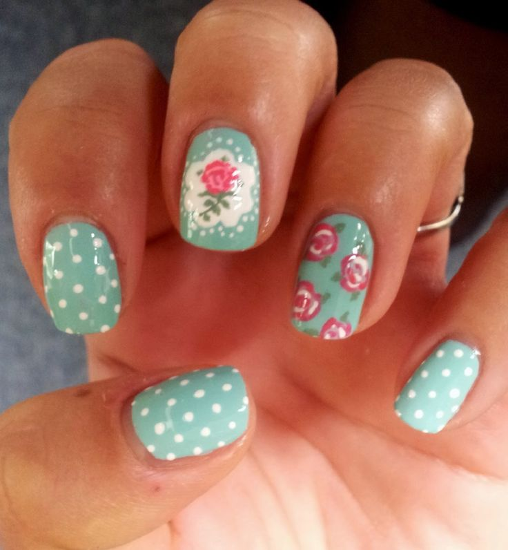 Dahlia Nails: Then and Now: Cath Kidston