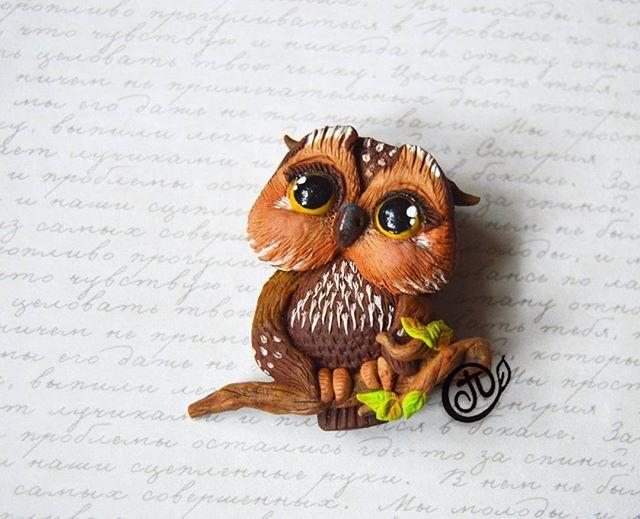 Продается брошечка.950р #брошьручнойработы #брошка #брошь #аксессуары #аксессуарыручнойработы #аксессуар #совысовы #сова #совынежные #owl #owls #accessories #decor #style #полимернаяглина #пластика #polimerclay #fimoclay