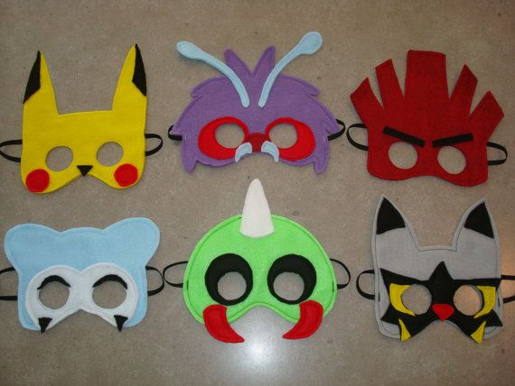 Pokémon Inspired Felt Masks