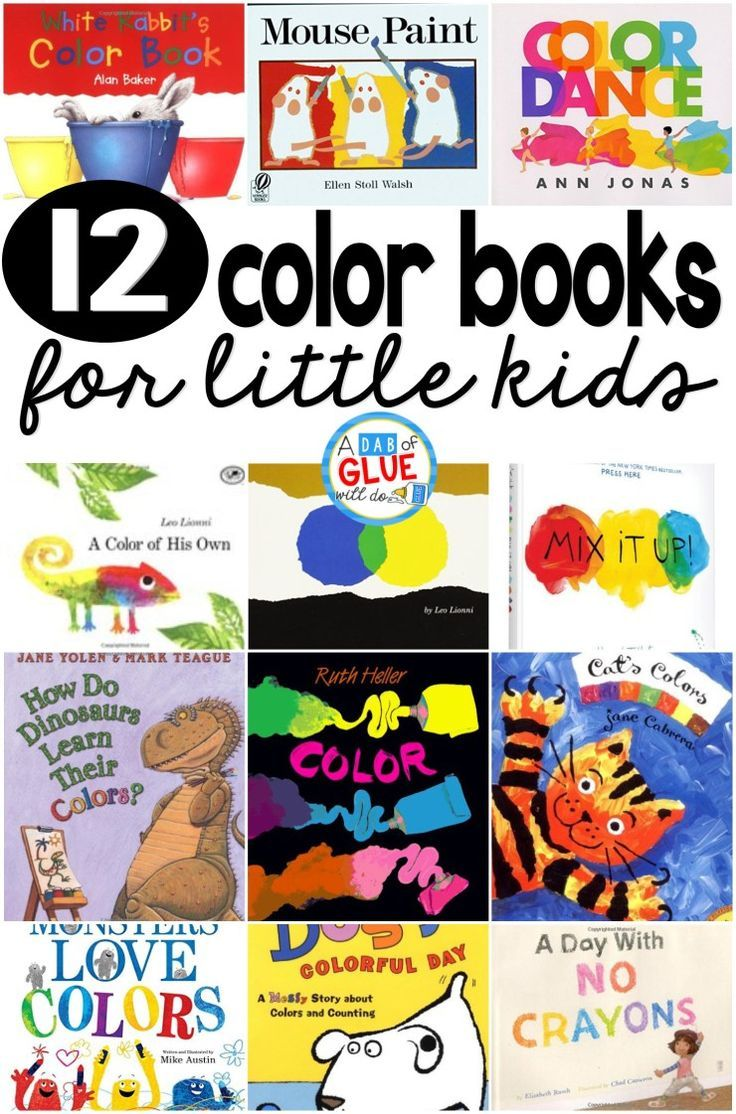 Unit study colors preschool - 12 Color Books For Little Kids