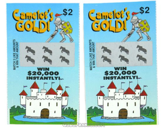 Fake Lotto Tickets Set Of 2