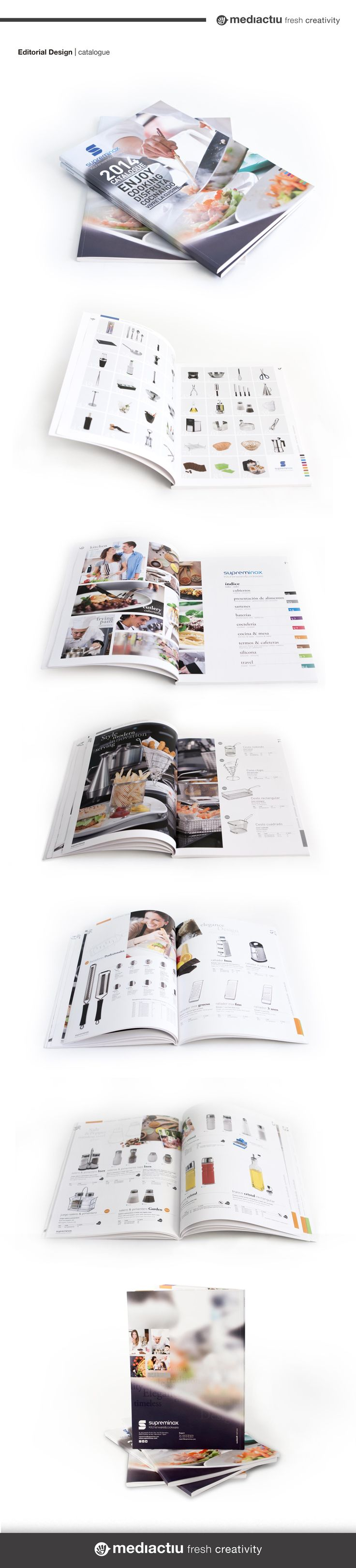 Diseño y maquetación del catálogo de productos de Supreminox. Diseño de portada y realización de algunas de las fotografías interiores. #editorialdesign #catalogue #editorial #photography #maquetacion #layout #portada #barniz
