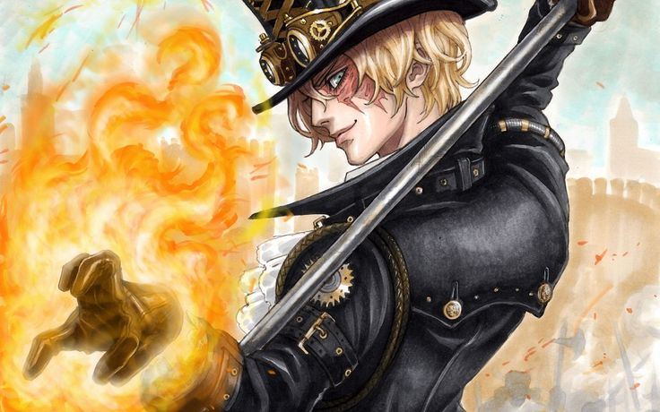FLaming Sabo one piece
