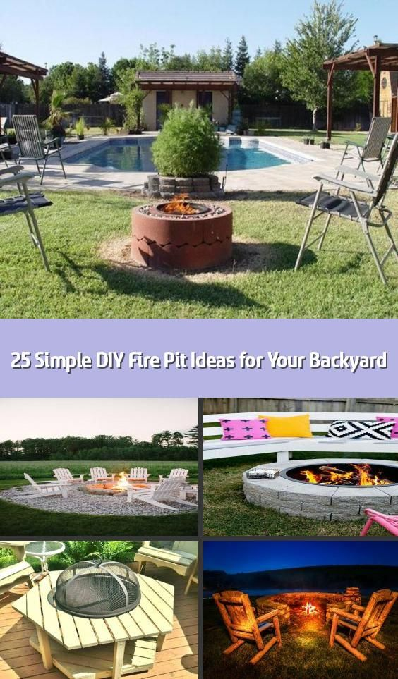 25 Simple DIY Fire Pit Ideas for Your Backyard - Your ...