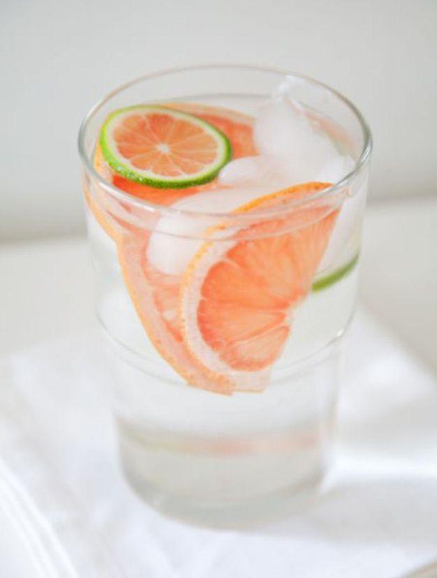 Idees de recettes d'eaux detox - Water detox pamplemousse
