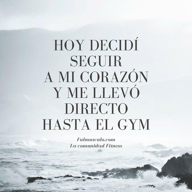 Le hice caso a mi corazón y me llevo directo hasta el gym.. y pues aquí estoy entrenando !