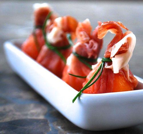 Melon and Prosciutto Pouches