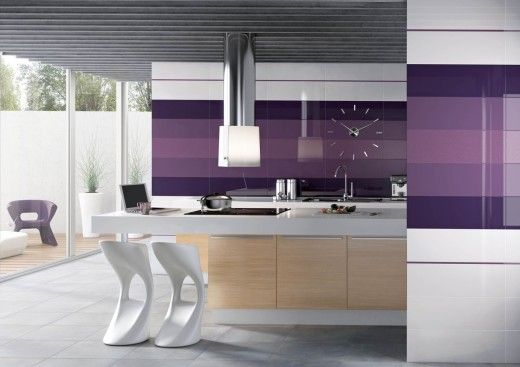 Glossy Colour kitchen tiles - ceramic tiles/candy colours