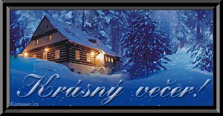 Krásny zimný večer!