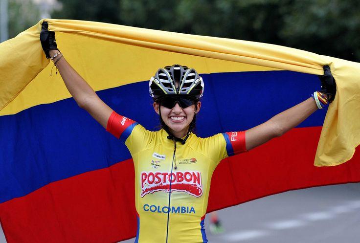 Fabriana Arias, campeona mundial de patinaje en 20.000 metros eliminación mayores, el 14 de septiembre en China.