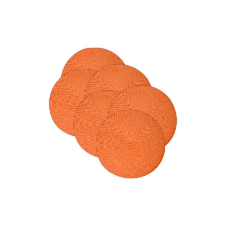 6pk Orange Placemat - Design Imports, Juicy Guava