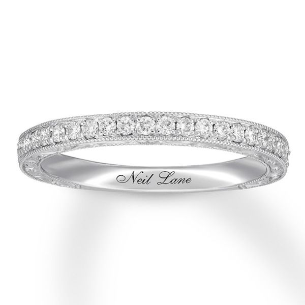 Neil Lane Bridal Diamond Wedding Band 1 4 Ct Tw 14k White Gold In 2020 Diamond Wedding Bands Neil Lane Bridal Bridal Bands
