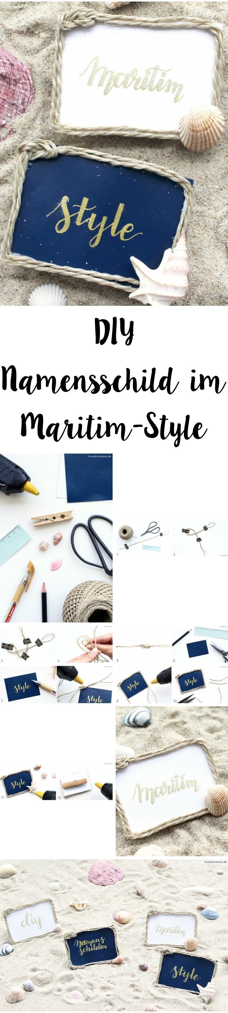 DIY Namensschilder im Maritim-Style | DIY Name Tags in Maritime Style