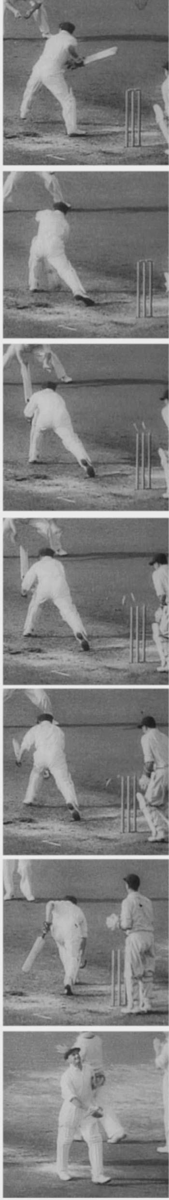 Don Bradman's Test career ends with a duck at The Oval