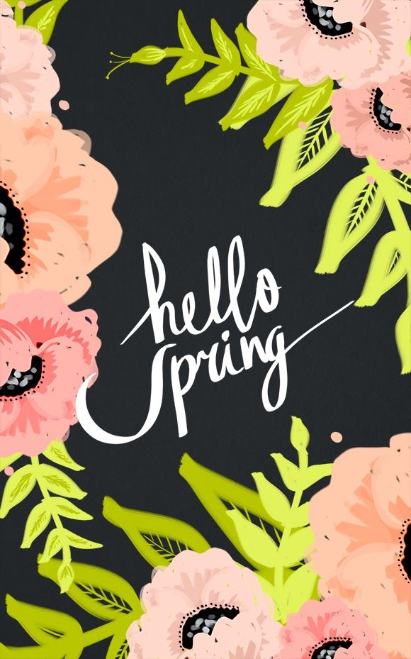 HELLO THERE SPRING! iPhone  desktop wallpapers by cocorrina
