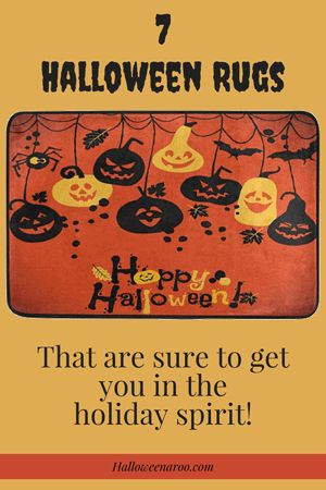 This list of 7 Halloween rugs are sure to get you in the holiday spirit! They include cute (and spooky!) pumpkins, cats, bats, witches, and spiders.