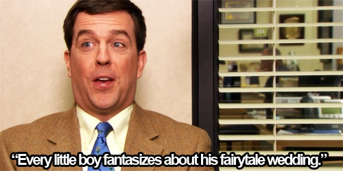 Andy Bernard. Yes, Andy, all little boys think about that.