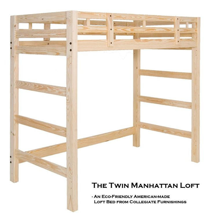 Manhattan Twin Size Loft Bed Unfinished furniture New