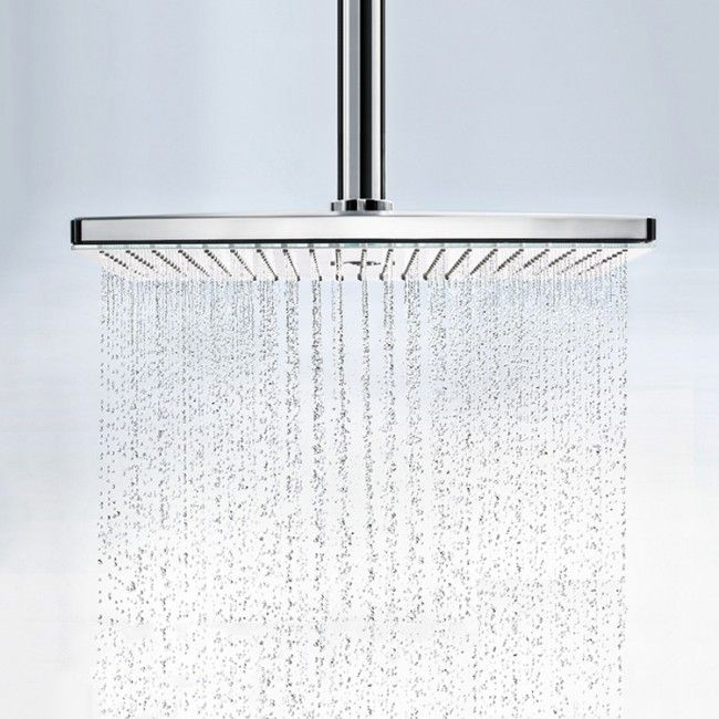hansgrohe rainmaker select 460 3 jet fixed overhead shower head with ceiling arm