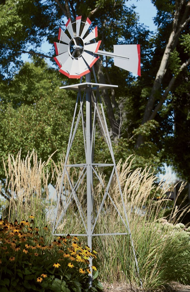 Lawn windmills ornamental - Add A Rustic Touch To Your Yard With A 8 Ft Tall Ornamental Windmill