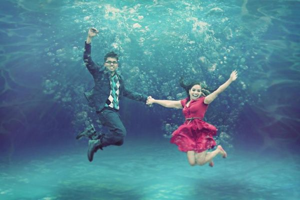 Underwater Engagement Photo