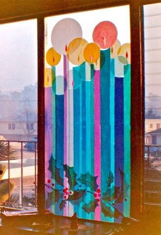 Tissue paper stained glass window | by elevator_lady