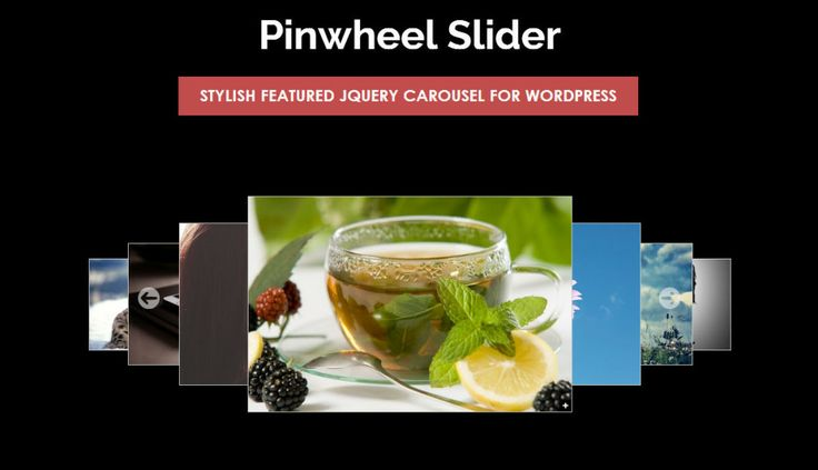 45 of the Most Popular Free and Premium Slider Plugins for WordPress - Pinwheel Slider is a customizable and responsive featured jQuery carousel WordPress slider plugin.