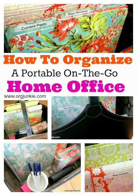 Organizing A Portable Home Office