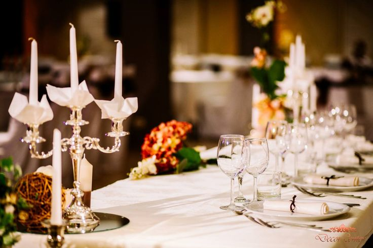 """""""În sfeșnic de argint/ Flacăra lumânării tremură ușor"""", scria Mihail Mataringa.  #wedding #decorations"""