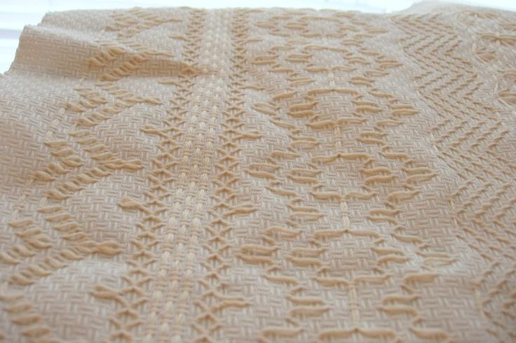Huck Weaving. Tone on tone. Very elegant