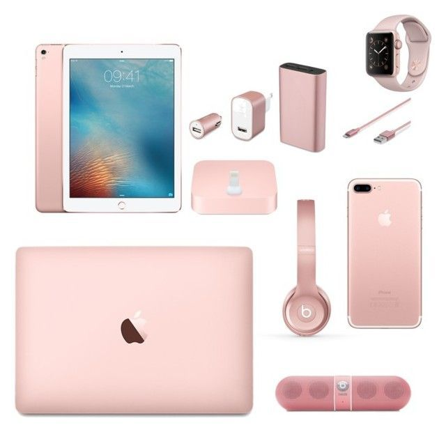 """Apple's Rose Gold World"" by elnara698 on Polyvore featuring модЅ"