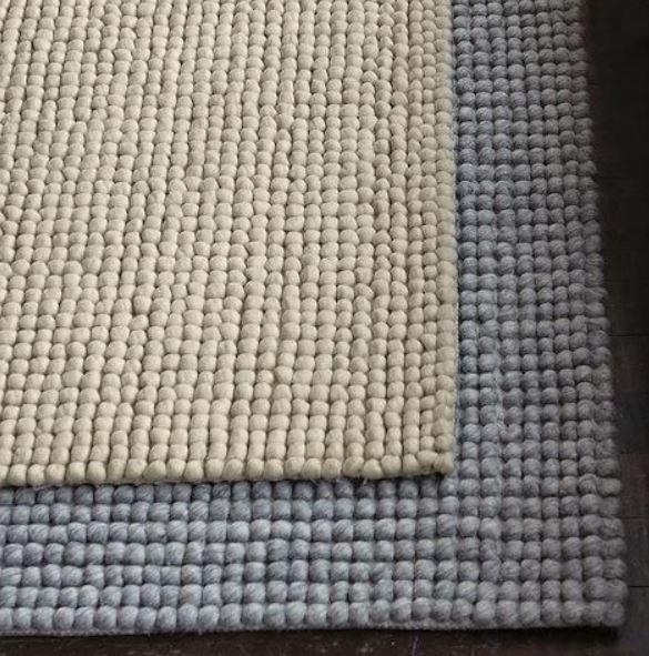 Mini Pebble Wool Jute Rug Natural Ivory Wool Area Rugs Rugs Jute Wool Rug
