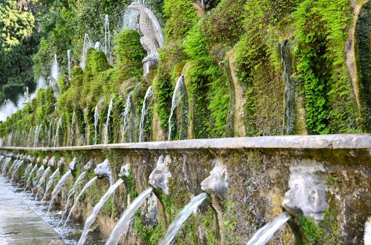 Le Cento Fontane (The Hundred Fountains) — at Villa d'Este.