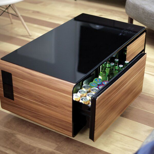 smart coffee table with storage tea