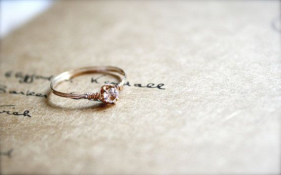 Promise rings are so adorable. Love this idea.