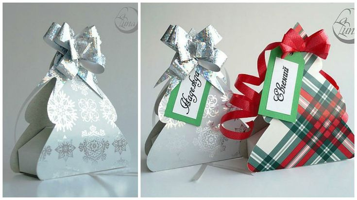 Cajas navideñas con figura de arbolito-Moldes