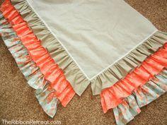 Ruffled Crib Skirt Tutorial - Tutorial saia de berço de babados