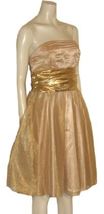 #Prom Glam 80s Strapless Dress