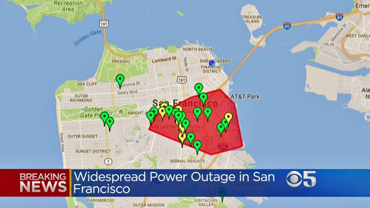 Can you imagine the cause of #SanFrancisco, #California power outage to 20,000 remains under investigation. iSocket 3G reports power outages as well as power restoration to your cell phone by text messages or call. Pre-order #iSocket3G with discounts now.