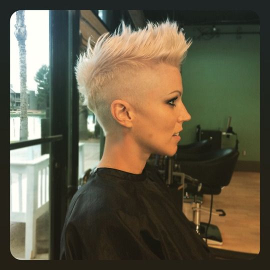 closely buzzed sides and tapered  Short faded and