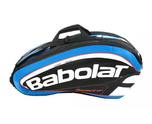 BABOLAT Badminton 16 Racquet Bag by Babolat. $75.31. The Babolat Racket Holder is a new addition to Babolat's range of Badminton Holdalls for 2012. The Bag is spacious enough to hold 16 badminton rackets and has plenty of room left over for personal accessories.Features:*2 shoulder straps*3 inside compartments*2 side pockets*1 shoe bag*1 bag for dirty clothes