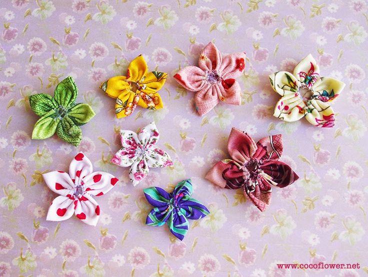 les 10 meilleures idées de la catégorie fleurs en tissu sur