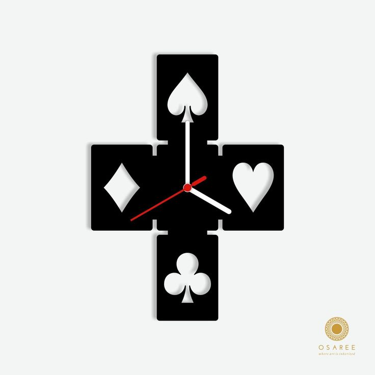Cards Patent Wall Clock  #Geometric #Clock #WallClock #Shopping #Amazon
